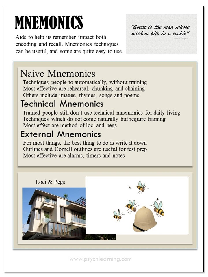 Infographic about Mnemonics